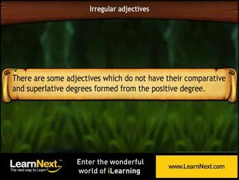 Animated video Lecture for Irregular Adjectives