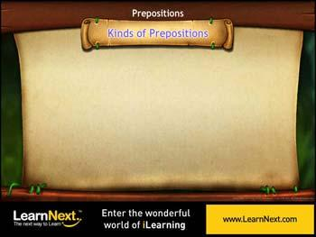 Animated video Lecture for Kinds of Prepositions