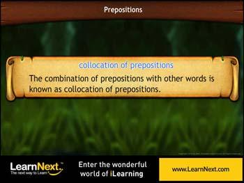 Animated video Lecture for Collocation of prepositions