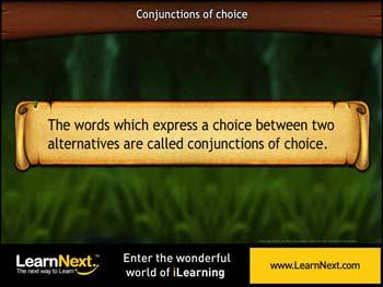 Animated video Lecture for Conjunctions of Choice