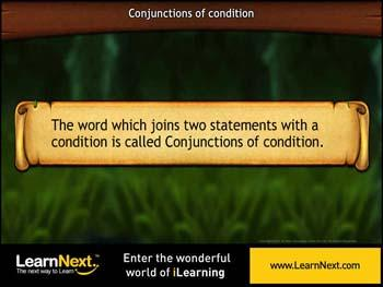 Animated video Lecture for Conjunctions of condition