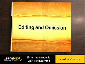 Animated video Lecture for Editing and Omission - I