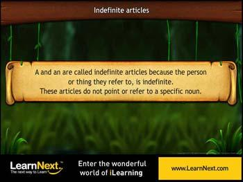 Animated video Lecture for Indefinite Articles
