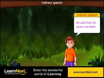 Animated video Lecture for Direct and Indirect Speech In types of sentences