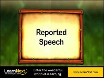 Animated video Lecture for Introduction to Reported Speech