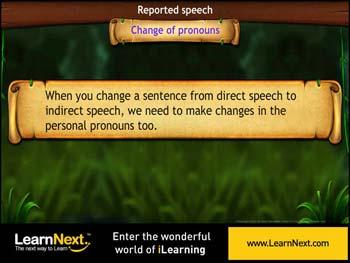 Animated video Lecture for Change of Pronouns in Indirect Speech