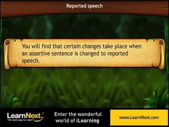 Animated video Lecture for Assertive sentences in Indirect Speech
