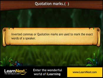 Animated video Lecture for Quotation Marks