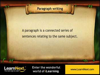 Animated video Lecture for Paragraph Writing