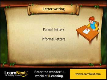 Animated video Lecture for Personal or Informal Letters