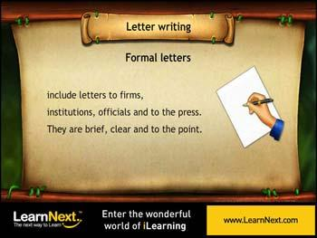 Animated video Lecture for Formal Letters
