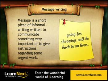 Animated video Lecture for Message writing