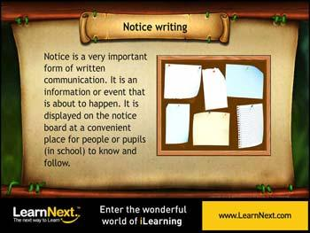 Animated video Lecture for Notice Writing