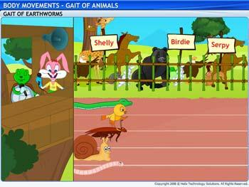 Animated video Lecture for Gait of Animals