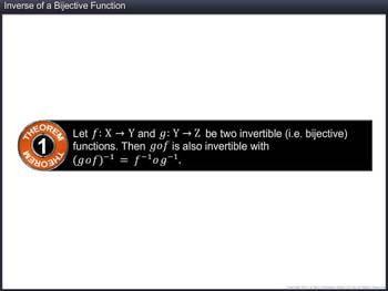 Animated video Lecture for Inverse of a Bijective Function