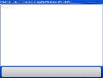Animated video Lecture for Properties of Inverse Trigonometric Functions