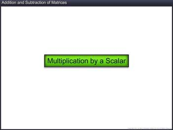 Animated video Lecture for Addition and Subtraction of Matrices