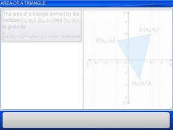 Animated video Lecture for Area of a Triangle