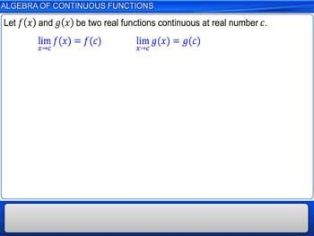 Animated video Lecture for Algebra of Continuous Functions