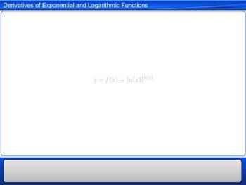 Animated video Lecture for Derivatives of Exponential and Logarithmic Functions