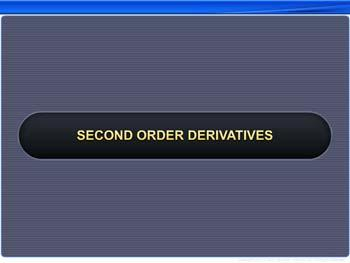 Animated video Lecture for Second Order Derivatives