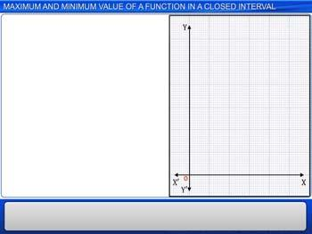 Animated video Lecture for Maximum and Minimum value of a function in a closed interval