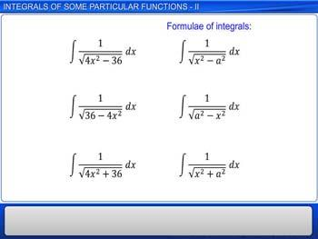Animated video Lecture for Integrals of Some Particular functions - II