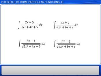 Animated video Lecture for Integrals of Some Particular Functions - III
