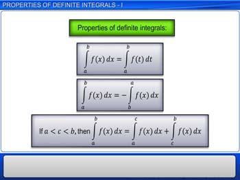 Animated video Lecture for Properties of definite integrals - I