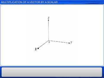 Animated video Lecture for Multiplication of a Vector by a Scalar