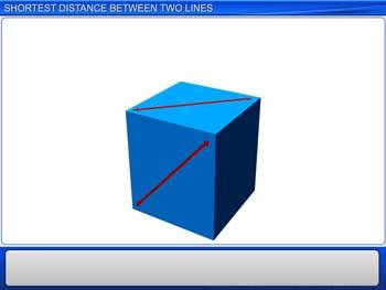 Animated video Lecture for Shortest Distance Between Two Lines