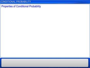 Animated video Lecture for Conditional Probability