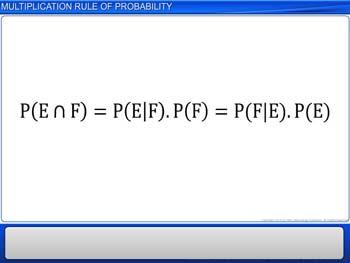 Animated video Lecture for Multiplication Rule of Probability