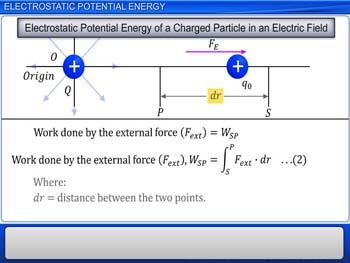 Animated video Lecture for Electrostatic Potential Energy