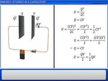 Animated video Lecture for Energy Stored in a Capacitor
