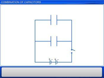 Animated video Lecture for Combination of Capacitors