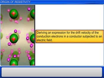 Animated video Lecture for Origin of Resistivity