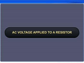 Animated video Lecture for AC Voltage Applied to a Resistor