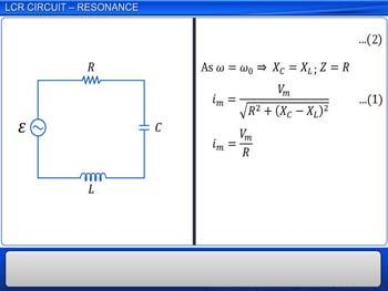 Animated video Lecture for LCR circuit - Resonance