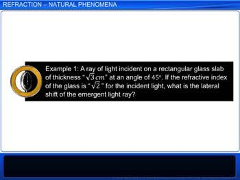 Animated video Lecture for Refraction - Natural Phenomena