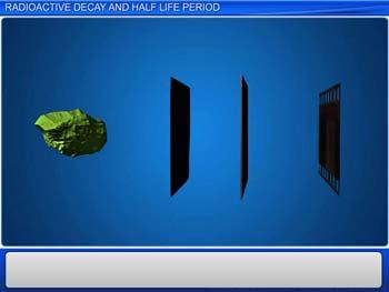 Animated video Lecture for Radioactive Decay and Half Life Period