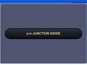 Animated video Lecture for P-n junction diode