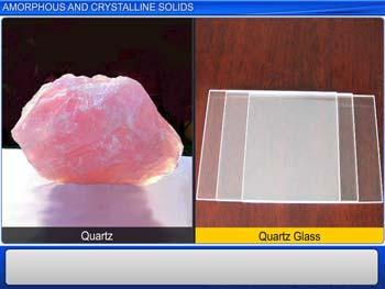 Animated video Lecture for Amorphous and Crystalline Solids