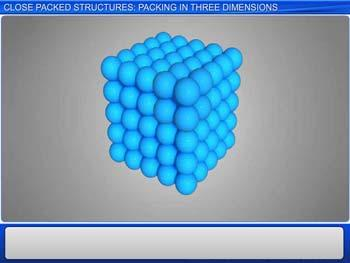 Animated video Lecture for Close Packed Structures: Packing In Three Dimensions