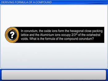 Animated video Lecture for Deriving Formula Of A Compound