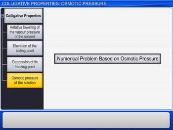 Animated video Lecture for Colligative Properties: Osmotic Pressure