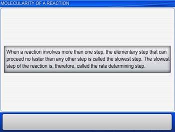 Animated video Lecture for Molecularity of a Reaction