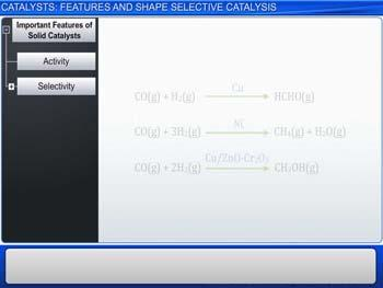 Animated video Lecture for Catalysts: Features And Shape Selective Catalysis