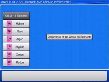 Animated video Lecture for Group 18: Occurrence And Atomic Properties