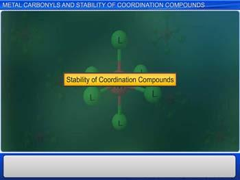 Animated video Lecture for Metal Carbonyls And Stability Of Coordination Compounds